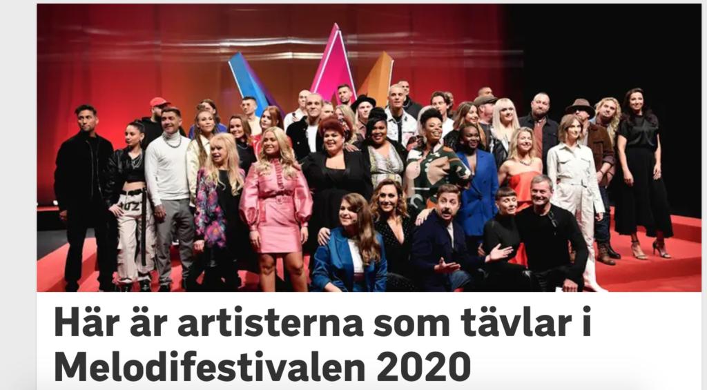 Конкурсные песни и исполнителей, претендующих на Евровидение 2020 от Швеции, представили в Стокгольме