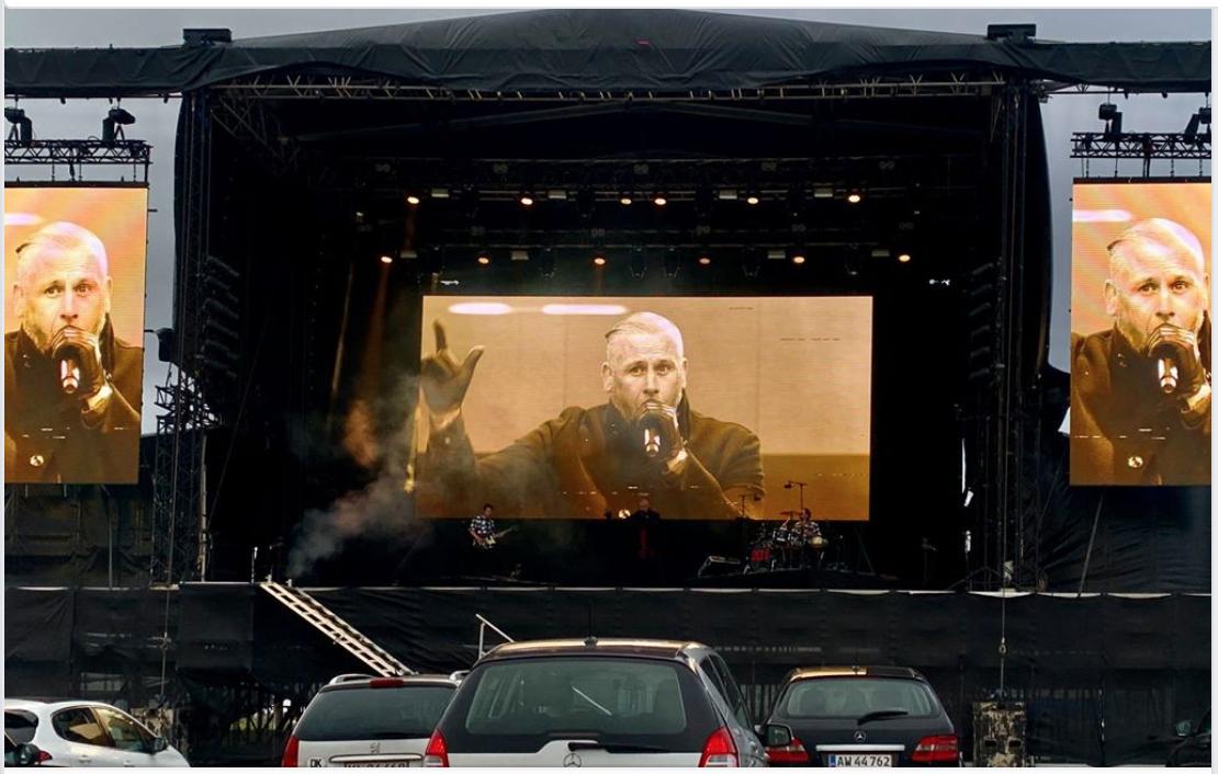 Многие концерты пройдут в июне в Дании на автостоянках со зрителями по принципу DRIVE IN - LIVE