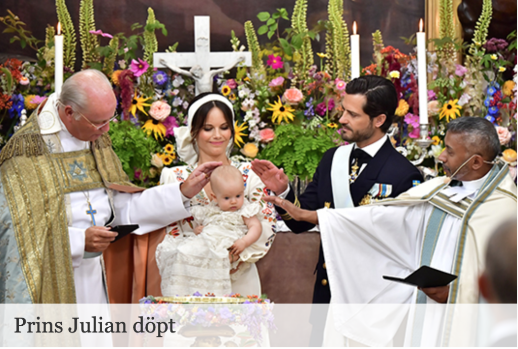 Крещение третьего сына принца Карла Филипа прошло в субботу в Швеции